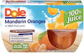dole fruit bowls dole fruit bowls mandarin oranges in juice 4 cups best kosher