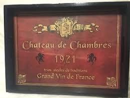 chateau de chambres chateau de chambers 1921 tray ebay