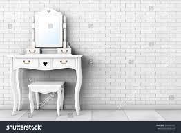 Antique Bedroom Vanity Antique Bedroom Vanity Table Stool Mirror Stock Illustration