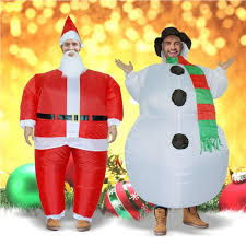 inflatable christmas santa claus snowman costume fancy dress for