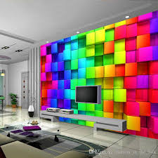 modern custom 3d wallpaper colorful blocks photo wallpaper brick