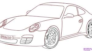 a drawing of a car how to draw a porsche step by step cars draw