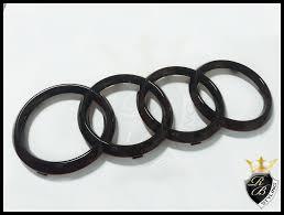audi rings audi ring badge black gloss for audi a2 from rb styling dülmen germany