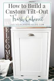 Kitchen Trash Can Ideas How To Build A Custom Tilt Out Trash Cabinet Kitchens House And