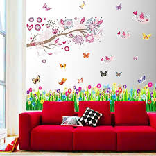 Wall Murals Amazon by Walplus Huge Bird Flowers Tree Butterflies Children Kids Girls