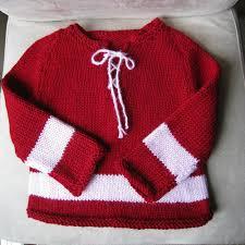 we like knitting baby hockey sweater free pattern