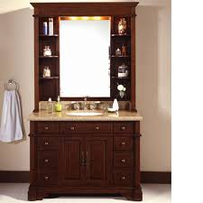 traditional 48 inch bathroom vanity charcoal finish with hutch