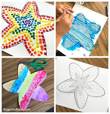 easy starfish craft for kids with free printable template buggy