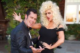 Sandy Danny Grease Halloween Costumes Jessica Simpson Husband Eric Johnson Channel Grease Sandy
