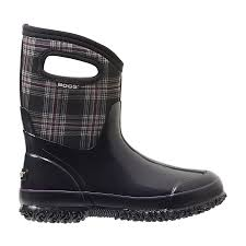 womens bogs boots sale winter plaid mid s insulated boots 71537