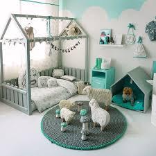 chambre kid lit potiron ambiance dusty green mint deco enfant trend maison