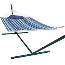 Hammock Frame Amazon Com Prime Garden 15 Foot Quilted Hammock And Pillow