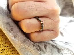 willow tree twig ring shaped wedding ring by caroline brook