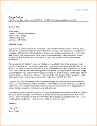 cover letter sample for students image collections letter