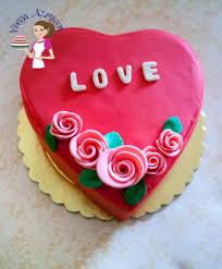valentine heart cake video tutorial veena azmanov