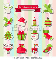 christmas stickers set of merry christmas stickers vectors search clip