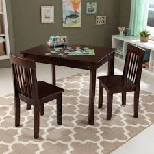 kidkraft round table and 2 chair set table ii 2 chair set espresso