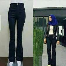 Menjual Seluar Perempuan seluar perempuan bootcut hitam s fashion clothes