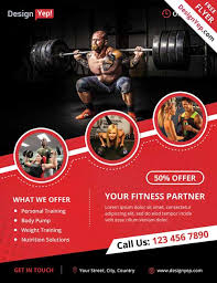 fitness brochure template free fitness gym flyer template psd