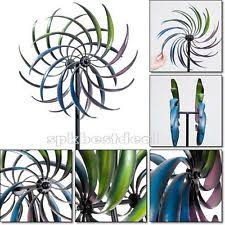 wind spinner sculpture rainbow windmill kinetic decor garden