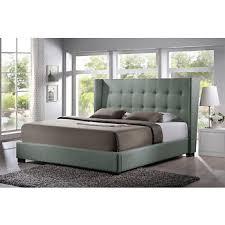 baxton studio favela king size platform bed with upholstered