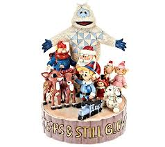 jim shore rudolph and friends 50th anniversary masterpiece qvc