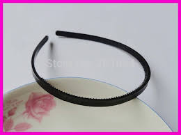 bando headbands 20pcs 7mm 1 4 black plain plastic hair headbands with two rows