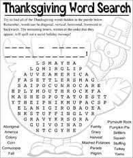 printable lg thanksgiving word search happy thanksgiving