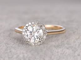 white gold engagement ring yellow gold wedding band 1ct brilliant moissanite engagement ring two tone plain gold 14k