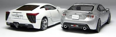 lexus diecast models models of the day kyosho lexus lfa u0026 toyota 86 in silver u2026 u2013 the