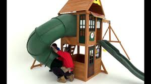 big backyard tube slide installation youtube