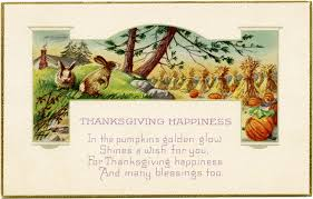 vintage thanksgiving postcard clip design shop