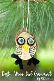 how to make a rustic wood owl ornament factory direct craft
