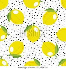 seamless lemon pattern lemon pattern seamless decorative vector photo bigstock