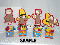 curious george birthday decorations handmadecenterpiecs se…