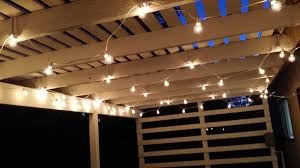 Patio String Lighting by How To Put Up Patio String Lights The Fast Way U2013 The Stupid Mom