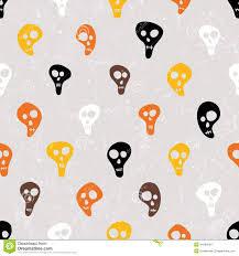 halloween vector print with skulls funny skulls stock vector