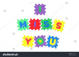 message i miss you letter puzzle stock illustration 45146020
