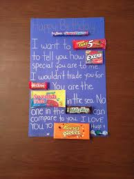 Romantic Gifts For Him For Christmas - best 25 candy poster boyfriend ideas on pinterest candy board