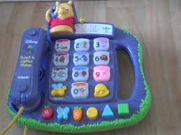 vtech winnie the pooh teach and lights phone