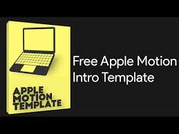 free apple motion 5 template youtube
