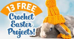 13 free crochet easter projects top crochet pattern blog