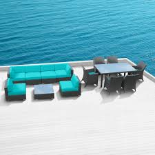 Turquoise Patio Furniture by Sofa Sets Modern Sofas Belizo Kisco 14 Pcs Wicker Patio