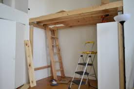 Free Standing Garage Shelves Plans by How To Build A Loft Diy Step By Step With Pictures