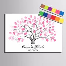 aliexpress com buy wedding tree guestbook fingerprint painting