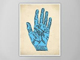 Occult Home Decor Amazon Com Palmistry Hand Print Palmistry Hand Art Print Wall