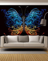 peel and stick wall murals removable wall murals large swirl butterfly wall graphic mural 6024