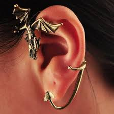 cuff piercing of thrones themed ear cuff antique gold single no