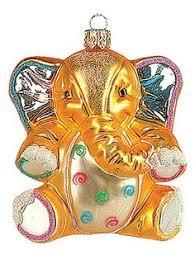 blown glass elephant ornament clear glass 2 25 x 2 25 x 1 5
