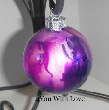 homemade holiday inspiration day 9 marbled glass ornament with